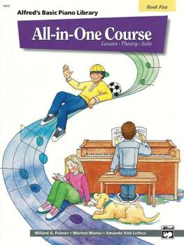 Alfred's Basic All-in-One Course, Book 5 (Lesson * Theory * Solo) (AL-00-14513)