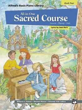 Alfred's Basic All-in-One Sacred Course, Book 4 (Lesson * Theory * Sol (AL-00-14570)