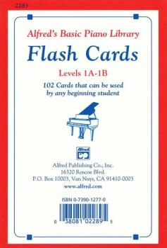 Alfred's Basic Piano Library: Flash Cards, Levels 1A & 1B (AL-00-2283)