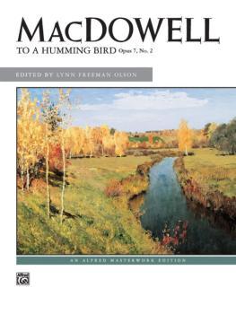 To a Hummingbird, Op. 7, No. 2 (AL-00-2630)