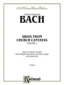 Arias from Church Cantatas (Soprano and Alto), Volume I (3 Duets) (AL-00-K06822)