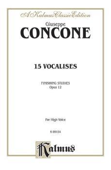 Fifteen Vocalises, Op. 12 (Finishing Studies) (AL-00-K09154)