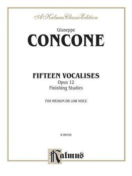 Fifteen Vocalises, Op. 12 (Finishing Studies) (AL-00-K09155)