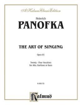The Art of Singing; 24 Vocalises, Op. 81 (AL-00-K09175)