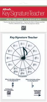 Alfred's Key Signature Teacher: All-In-One Flashcard (White) (AL-99-MKST01)