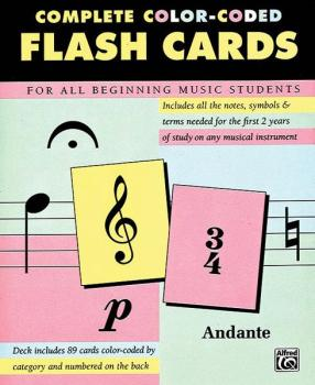 89 Color-Coded Flash Cards (AL-00-12061)