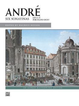 André: Six Sonatinas (AL-00-10151)