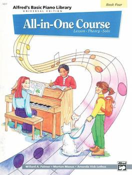 Alfred's Basic All-in-One Course Universal Edition, Book 4 (Lesson * T (AL-00-14517)