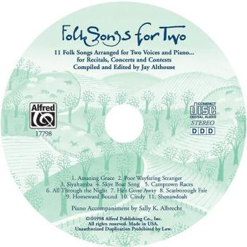 Folk Songs for Two: 11 Folk Songs Arranged for Two Voices and Piano... (AL-00-17798)