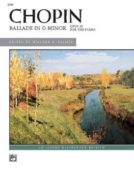 Chopin: Ballade in G Minor (AL-00-22556)