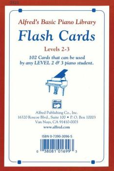 Alfred's Basic Piano Library: Flash Cards, Levels 2 & 3: 102 Cards Tha (AL-00-2521)