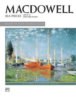 MacDowell: Sea Pieces, Opus 55 (AL-00-2641)