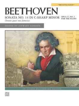 """Beethoven: Sonata No. 14 in C-sharp Minor, Opus 27, No. 2 (""""Moonlight"""" (AL-00-27903)"""