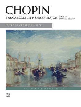 Chopin: Barcarolle in F-sharp Major, Opus 60 (AL-00-29109)