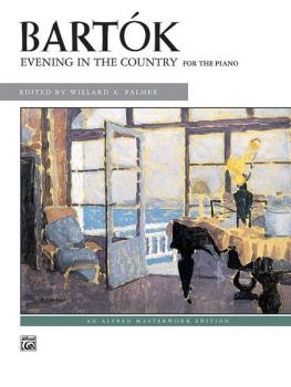 Bartók: Evening in the Country (AL-00-3294)