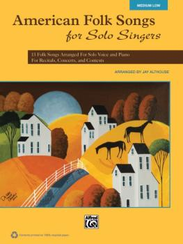 American Folk Songs for Solo Singers: 13 Folk Songs Arranged for Solo  (AL-00-35565)