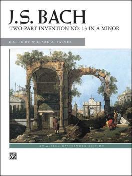 2-Part Invention No. 13 in A Minor (AL-00-3593)