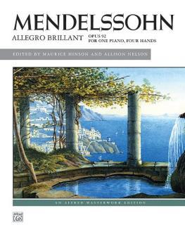 Mendelssohn: Allegro brillant (AL-00-37302)