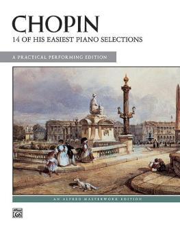 14 of His Easiest Piano Selections: A Practical Performing Edition (AL-00-397)