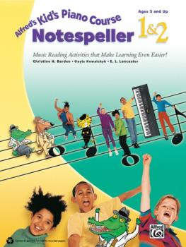Alfred's Kid's Piano Course Notespeller 1 & 2: Music Reading Activitie (AL-00-40077)