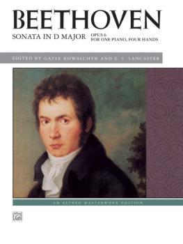 Beethoven: Sonata in D Major, Opus 6 (AL-00-40088)