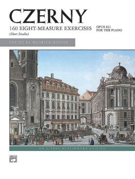 160 8-Measure Exercises, Op. 821 (AL-00-4832)