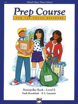 Alfred's Basic Piano Prep Course: Notespeller Book E (For the Young Be (AL-00-5745)