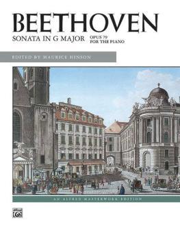 Beethoven: Sonata in G Major, Opus 79 (AL-00-6327)