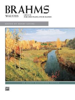 Brahms: Waltzes, Opus 39 (AL-00-681)