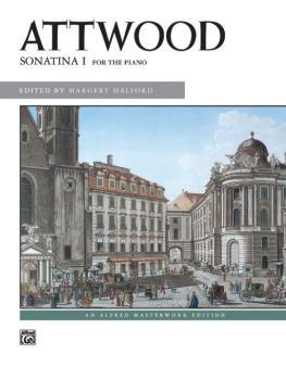 Attwood: Sonatina I (AL-00-8050)