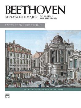 Beethoven: Sonata in E Major, Opus 14, No. 1 (AL-00-8051)