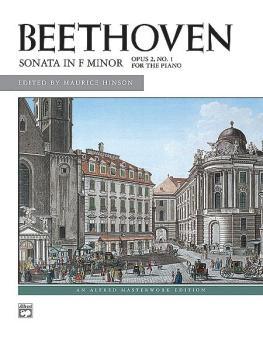 Beethoven: Sonata in F Minor, Opus 2, No. 1 (AL-00-8052)