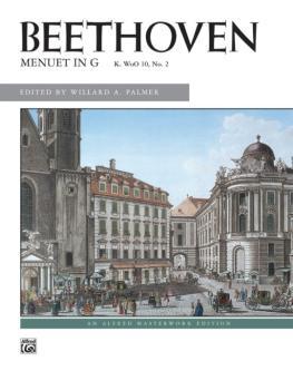 Beethoven: Menuet in G (AL-00-878)
