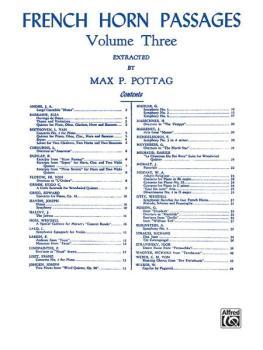 French Horn Passages, Volume III (AL-00-EL00154)