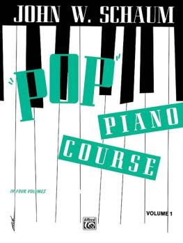 """Pop"" Piano Course, Book 1 (AL-00-EL00744)"