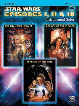 <I>Star Wars</I>®: Episodes I, II & III Instrumental Solos (AL-00-IFM0524CD)