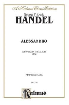 Alessandro (1726), An Opera in Three Acts (AL-00-K01256)