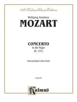 Bassoon Concerto, K. 191 (Orch.) (AL-00-K03775)