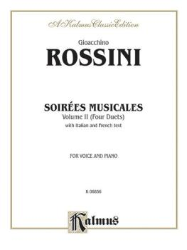 Soirées Musicales, Volume II (4 Duets) (For Voice and Piano with Itali (AL-00-K06856)