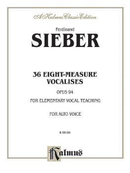 36 Eight-Measure Vocalises for Elementary Teaching, Opus 94 (For Alto  (AL-00-K09184)