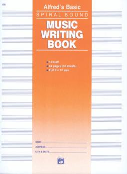 "12 Stave Music Writing Book (9"" x 12"") (AL-00-179)"