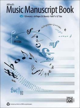 Alfred's Music Manuscript Book, 10-Stave (AL-00-33883)