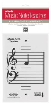 Alfred's Music Note Teacher: All-In-One Flashcard (White) (AL-99-MNT001)