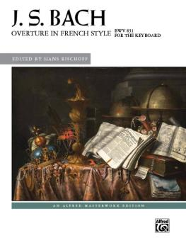 J. S. Bach: Overture in French Style, BWV 831 (AL-00-43655)