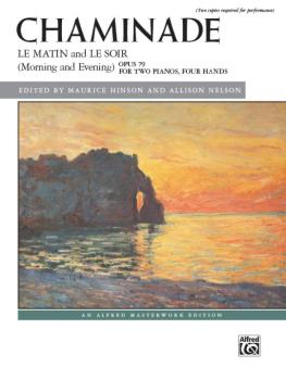 Chaminade: Le matin and Le soir (Morning and Evening), Opus 79 (AL-00-44320)