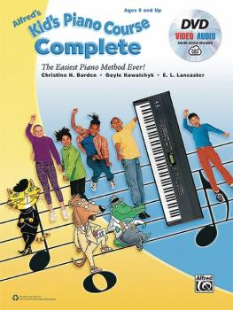 Alfred's Kid's Piano Course, Complete: The Easiest Piano Method Ever! (AL-00-45195)