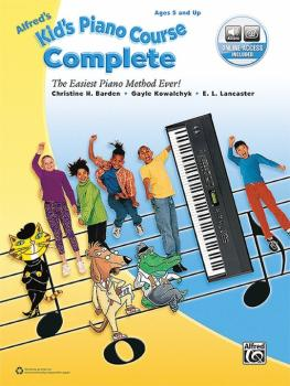 Alfred's Kid's Piano Course, Complete: The Easiest Piano Method Ever! (AL-00-45196)