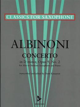 Concerto D Minor Opus 9, No. 2 (For Alto or Baritone Saxophone and Pia (AL-01-ADV7042)