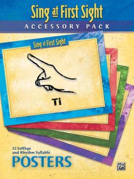 Sing at First Sight Accessory Pack: 32 Solfège and Rhythm Syllable Pos (AL-00-45964)