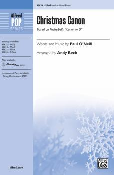"""Christmas Canon: Based on Pachelbel's """"Canon in D"""" (AL-00-47634)"""